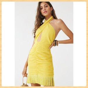 New Forever21 Fringe-Trim Mini Dress